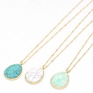 Natural Stone Water-Drop Necklace